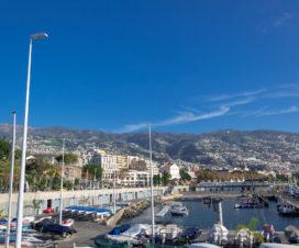 Am zweiten Tag dann Sonnenschein in Funchal