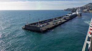 Ablegen der Mein Schiff in Funchal