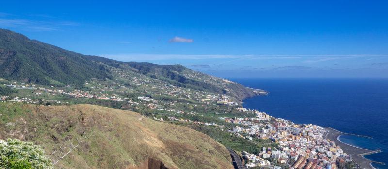 Sonnenschein mit Blick auf Santa Cruz de La Palma